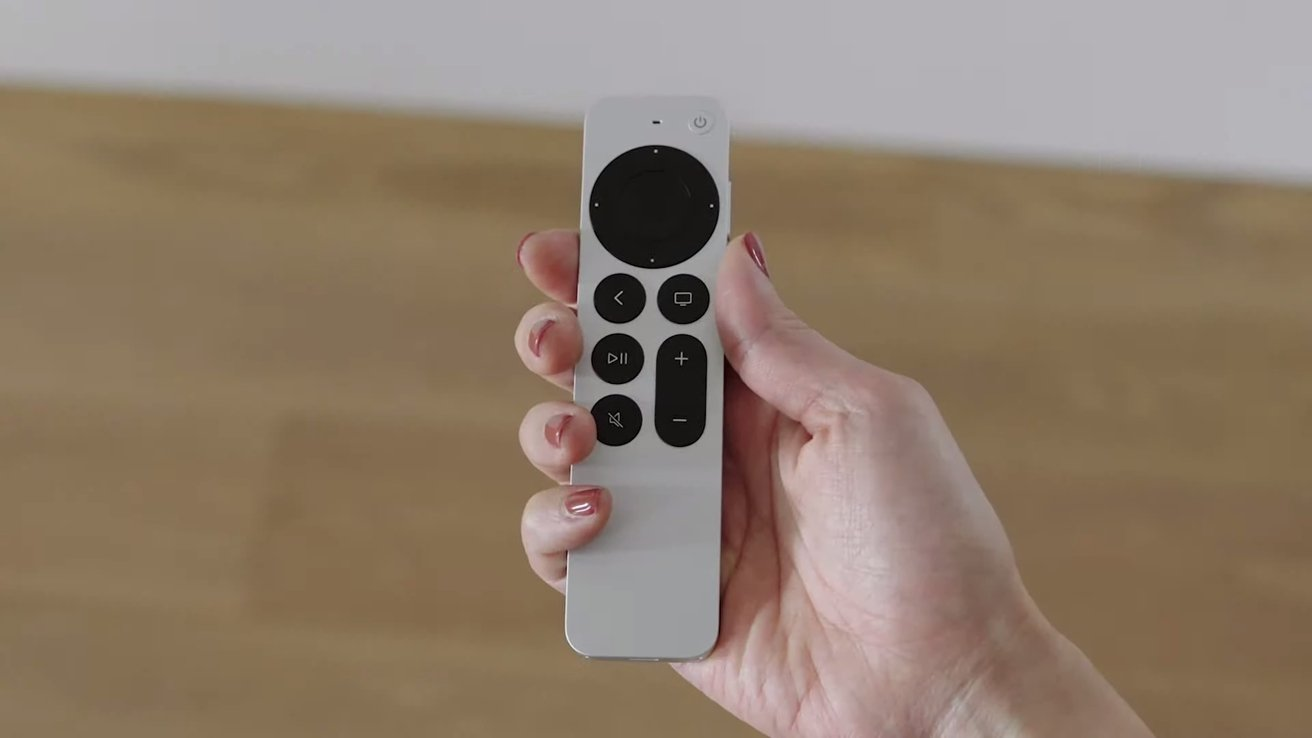The new aluminum Siri Remote for Apple TV
