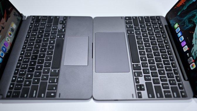 Brydge Pro+ trackpad versus Brydge 12.9 Max+