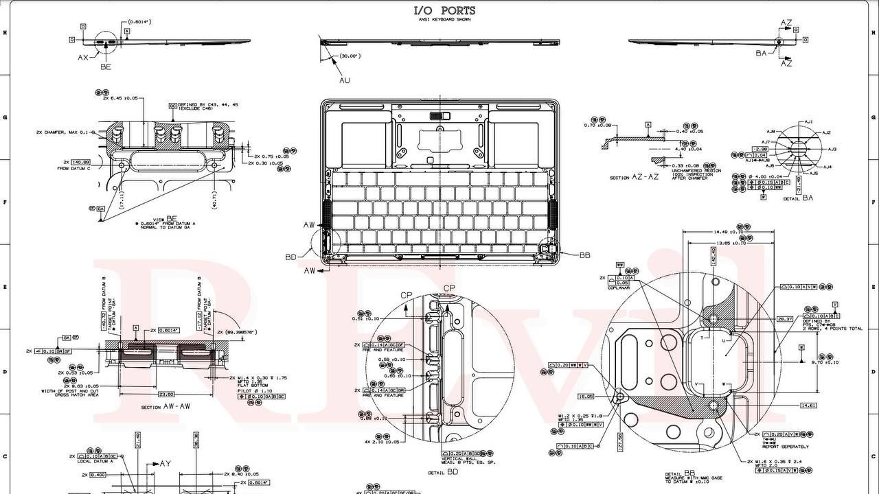 photo of Stolen Quanta documents show MacBook Pro with SD card slot, MagSafe image
