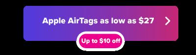 Apple AirTag sale button