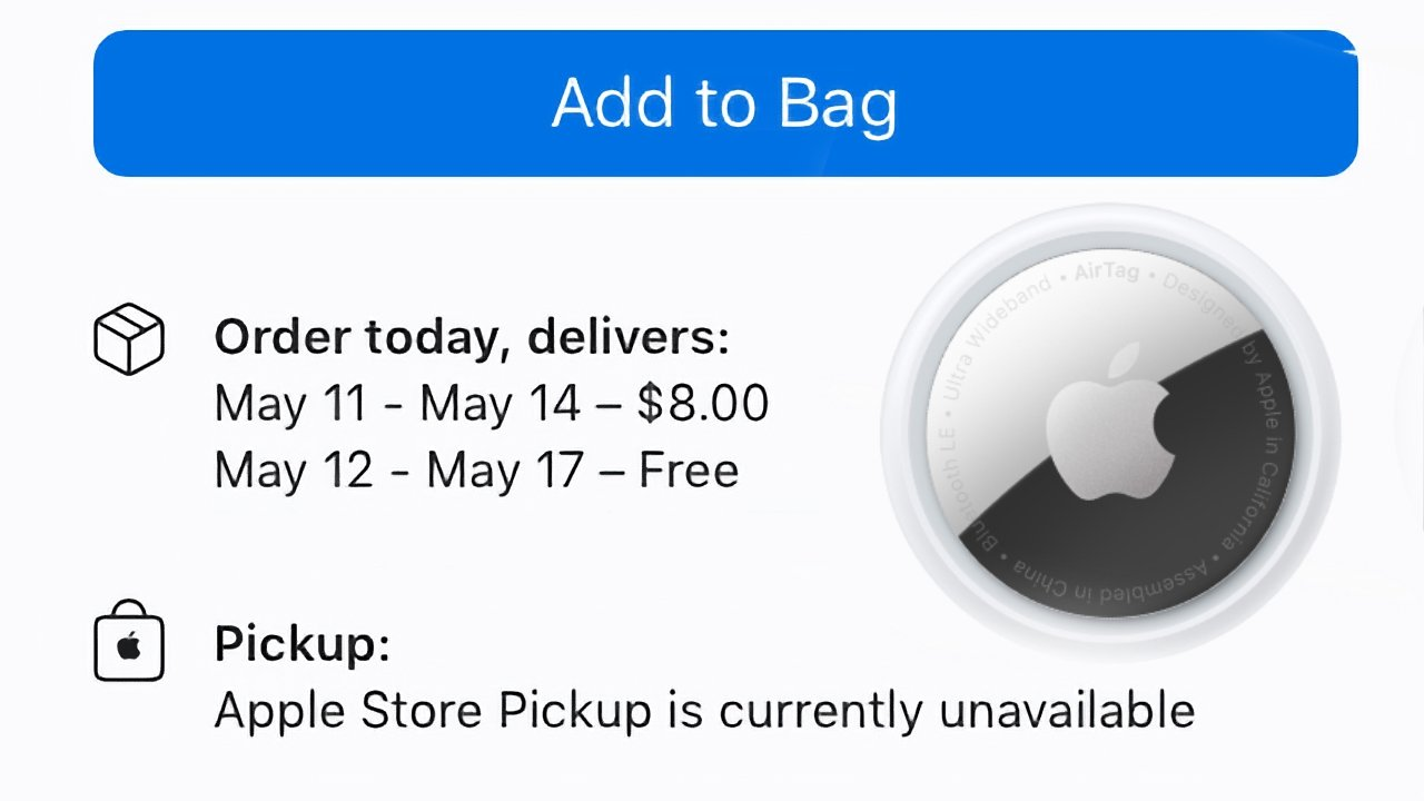 Apple's new AirTag is selling out