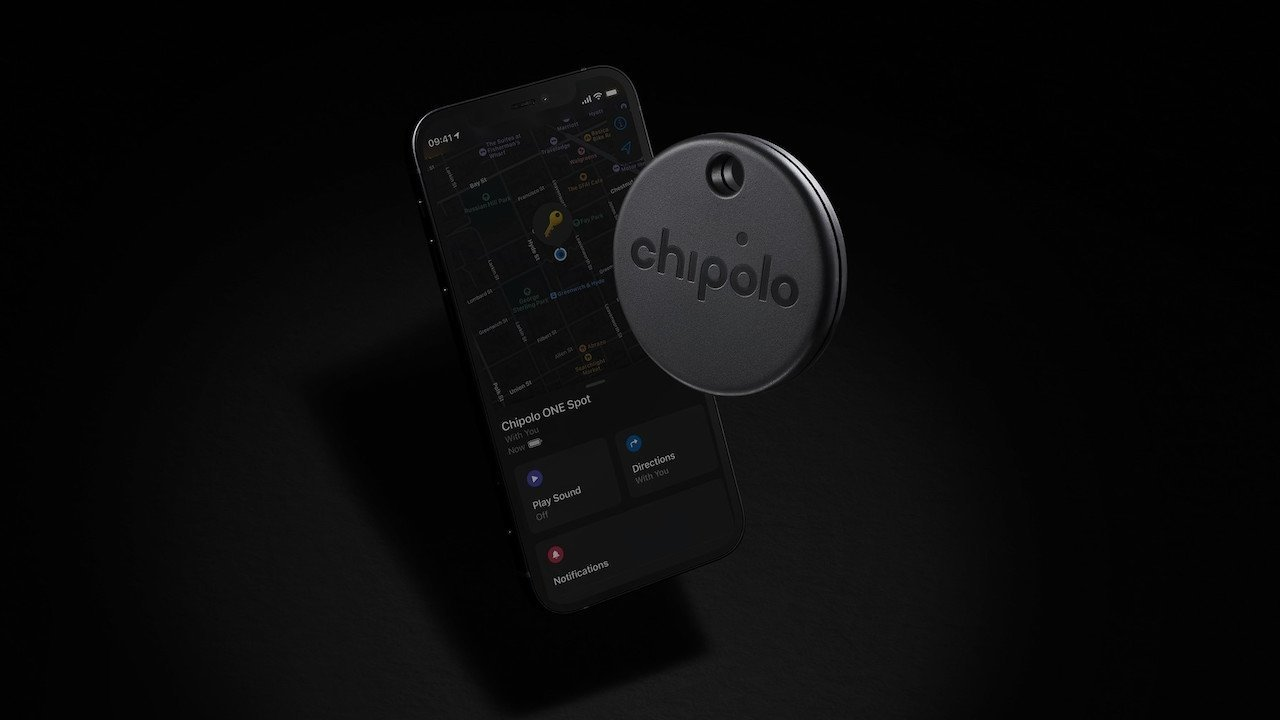 The Chipolo One Spot is a third-party tracker with Find My network support.