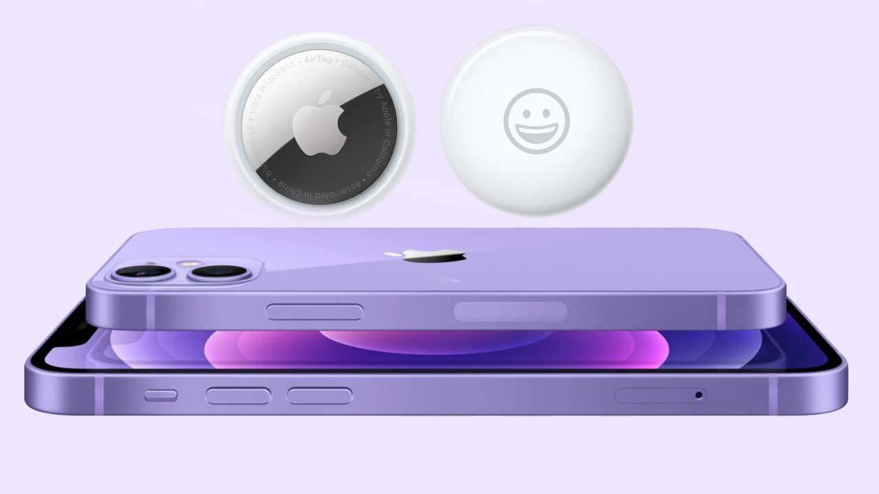 AirTag and Purple iPhones.