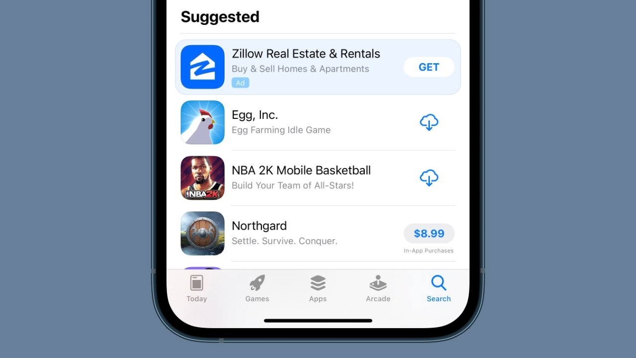 photo of Apple App Store search tab now has a dedicated ad slot image