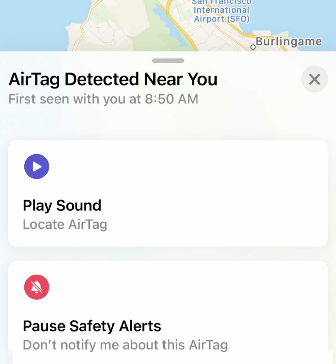 Once alerted, go into Find My and you'll usually see an option to play a sound on the unknown AirTag