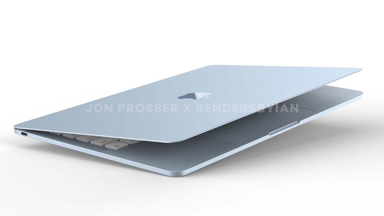 The blue MacBook Air is the only Mac Prosser actually saw in photos