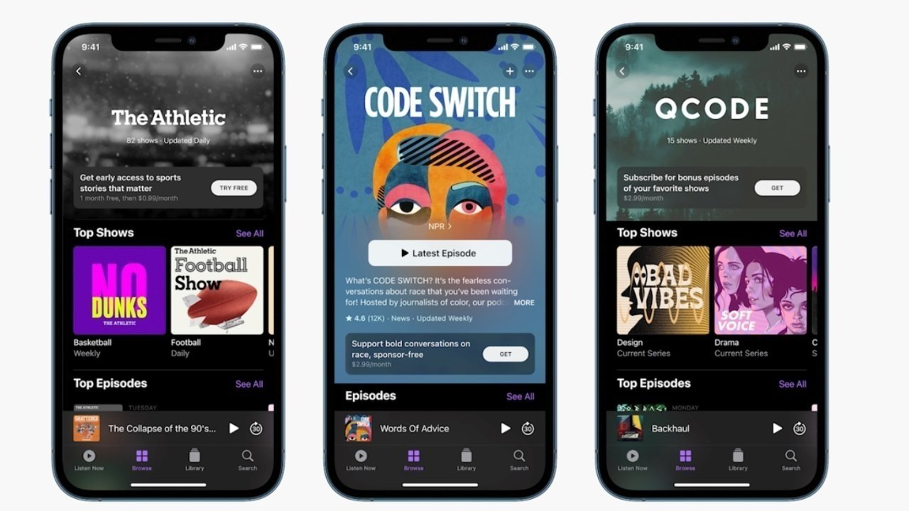 Apple also announced podcast subscriptions