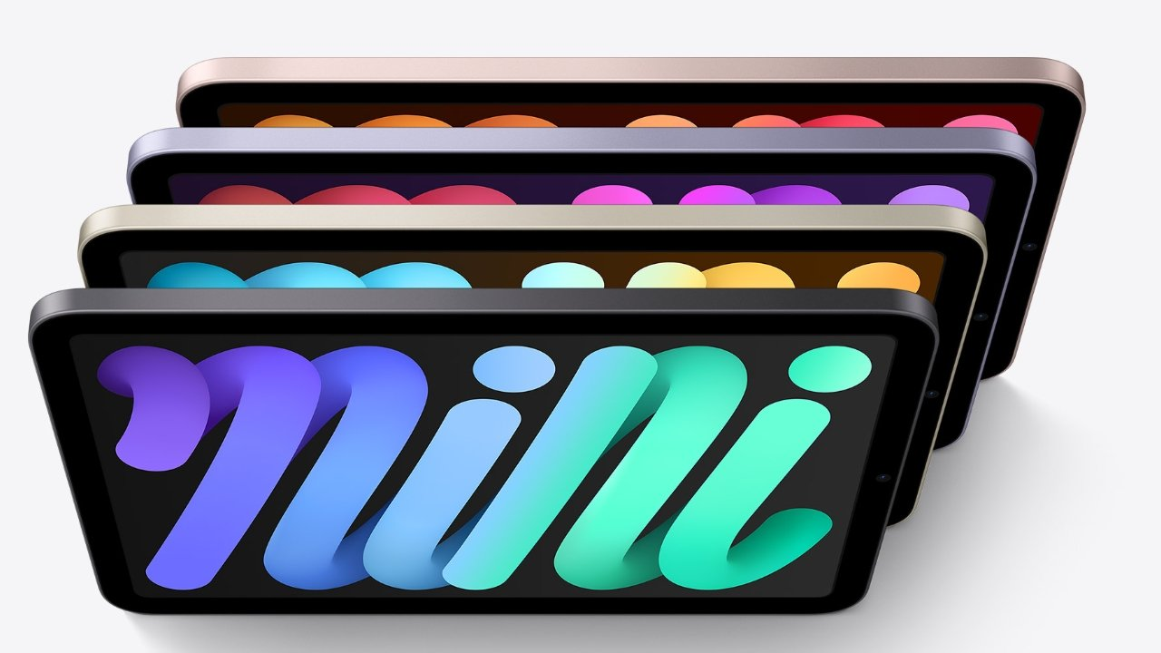 The iPad mini is available in pink, starlight, space gray, and purple
