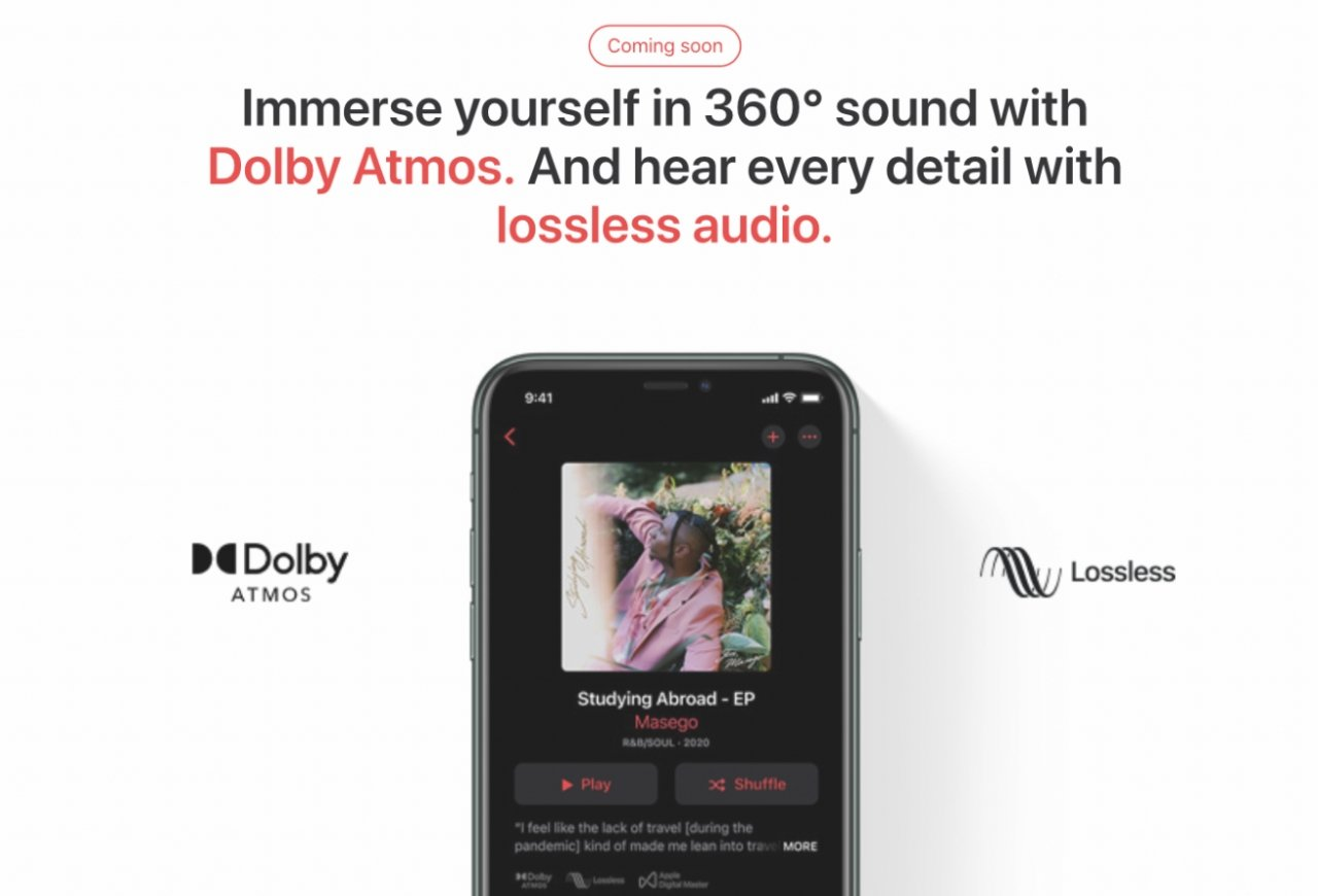 On compatible devices, Apple Music will automatically switch to Dolby Atmos versions of tracks where available