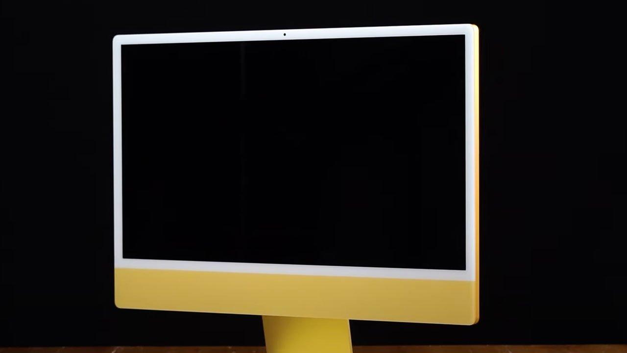 Yellow iMac