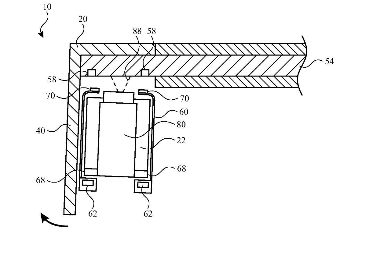 Деталь из патента, показывающая один механизм для регулировки