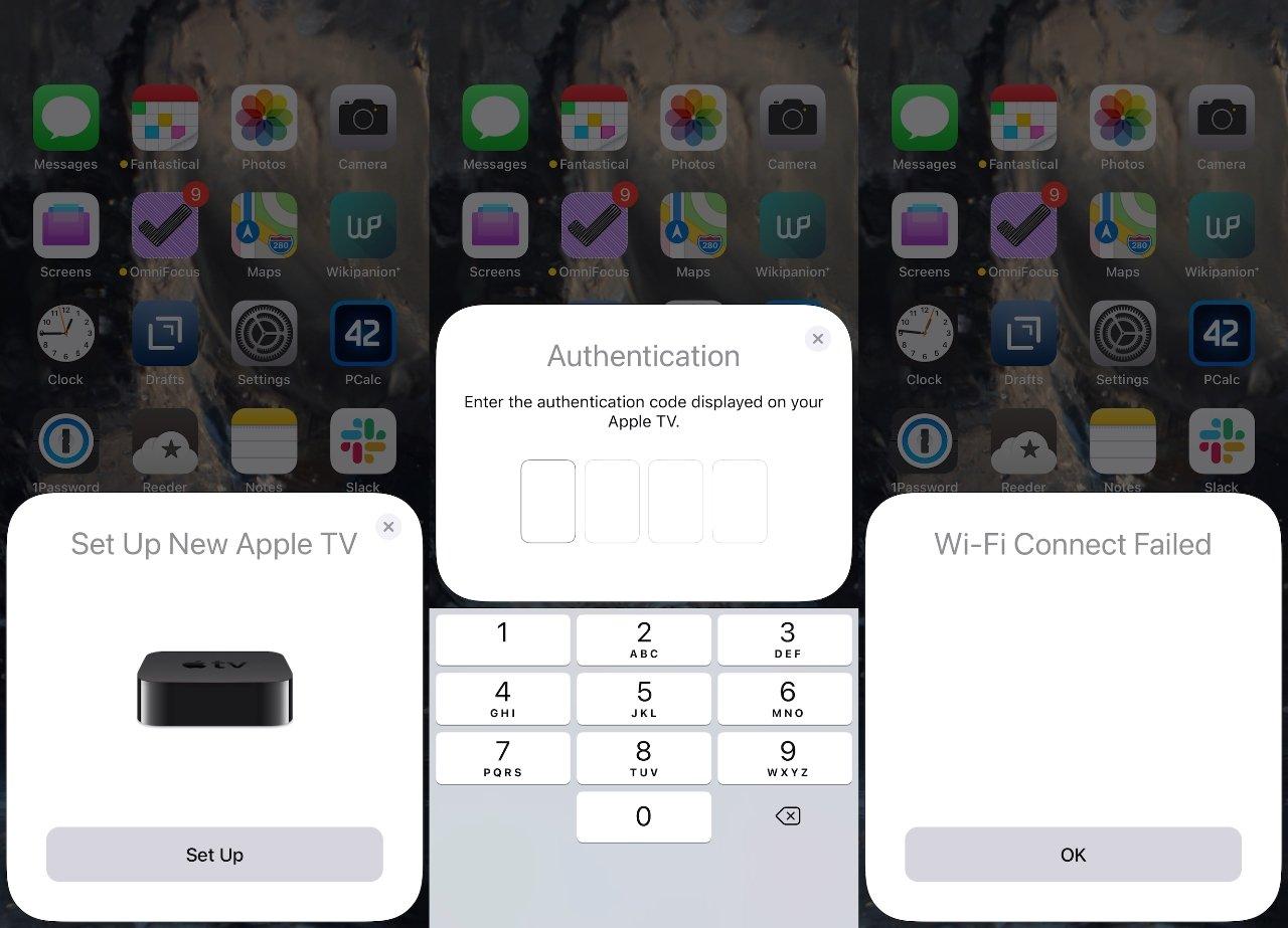 Если вы не можете настроить через iPhone, вы можете выбрать ручную настройку на Apple TV.