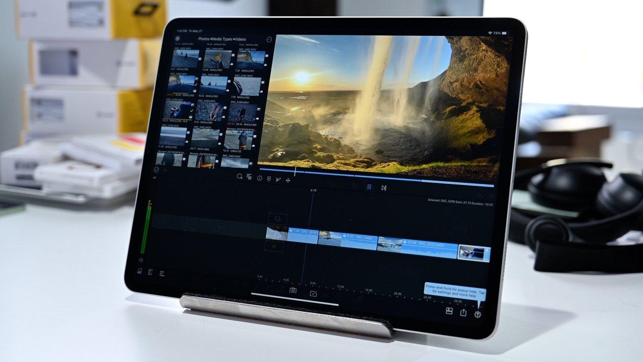 Editin in LumaFusion on 12.9-inch iPad Pro (2021)