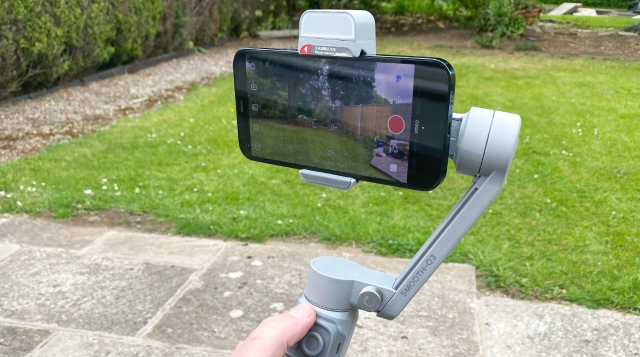The Zhiyun Smooth Q3 Gimbal comes with its own light that's excellent for faces