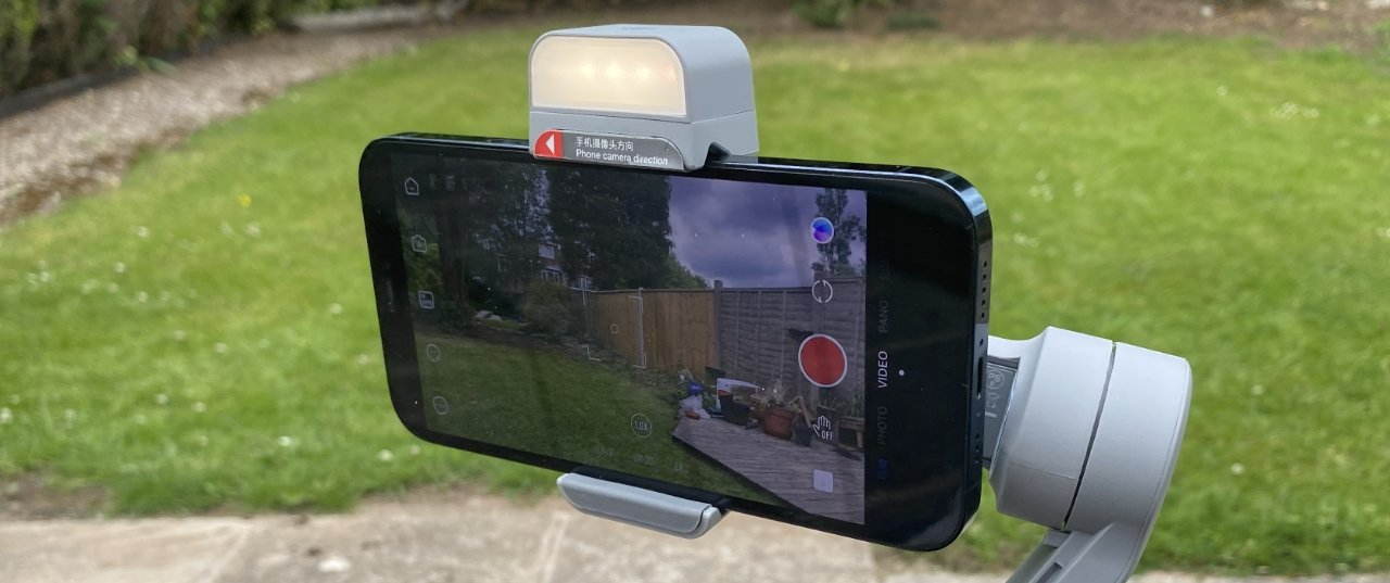 The Smooth Q3's LED isn't blinding, but it is very good as a fill-in light for filming YouTube videos