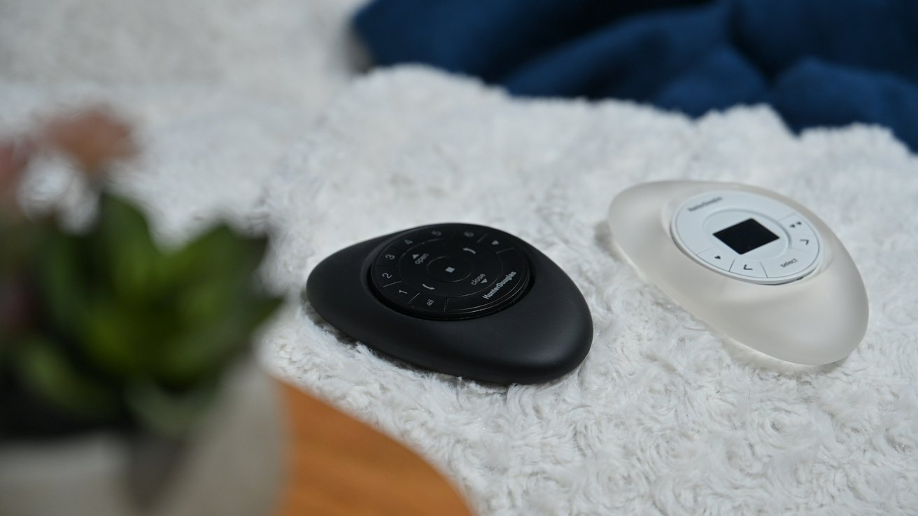 Our two Hunter Douglas Pebble controllers