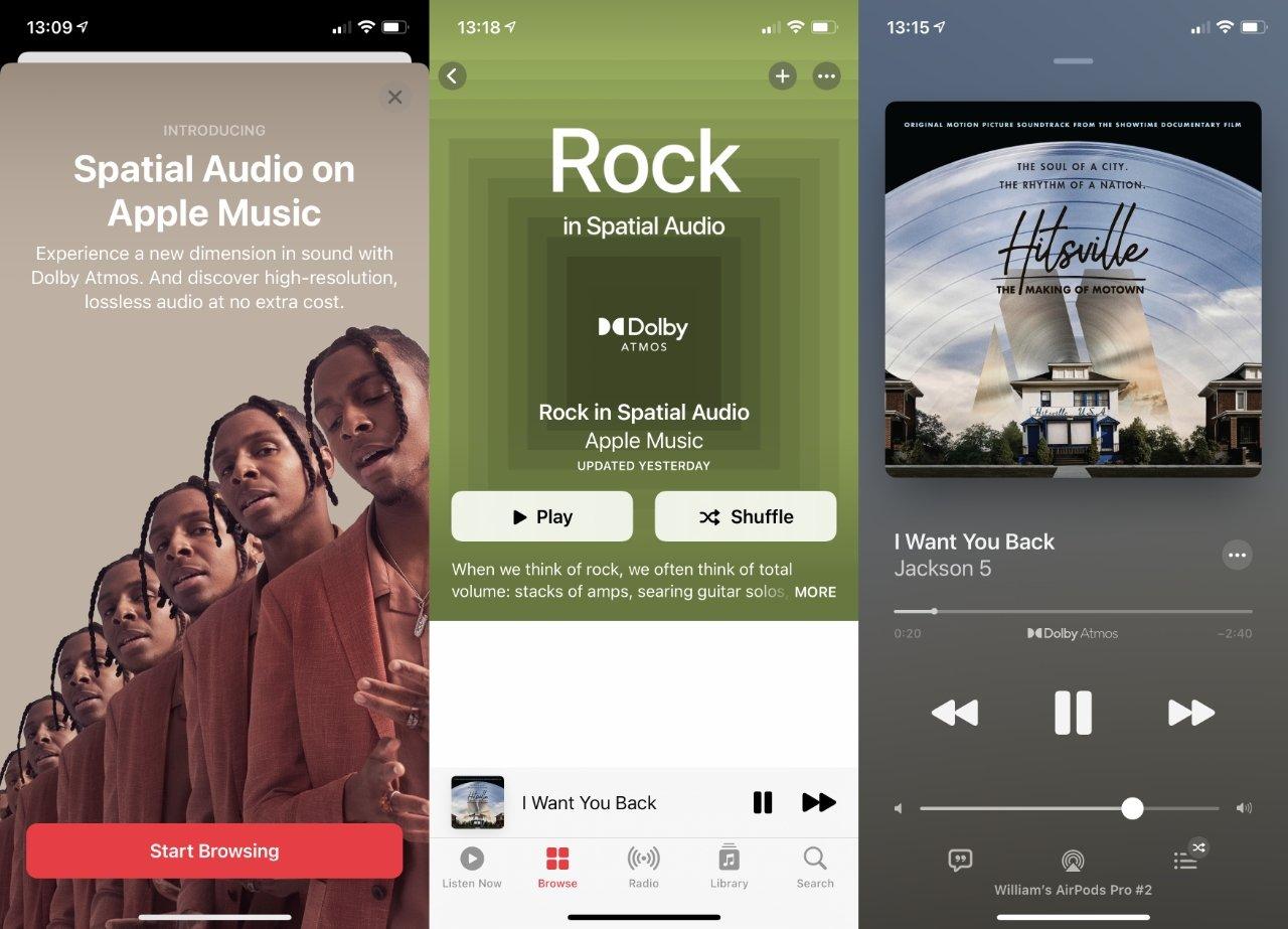 Hasta que toda Apple Music esté en Dolby Atmos, puede ser difícil encontrar pistas.  Apple proporciona listas de reproducción de género recomendadas