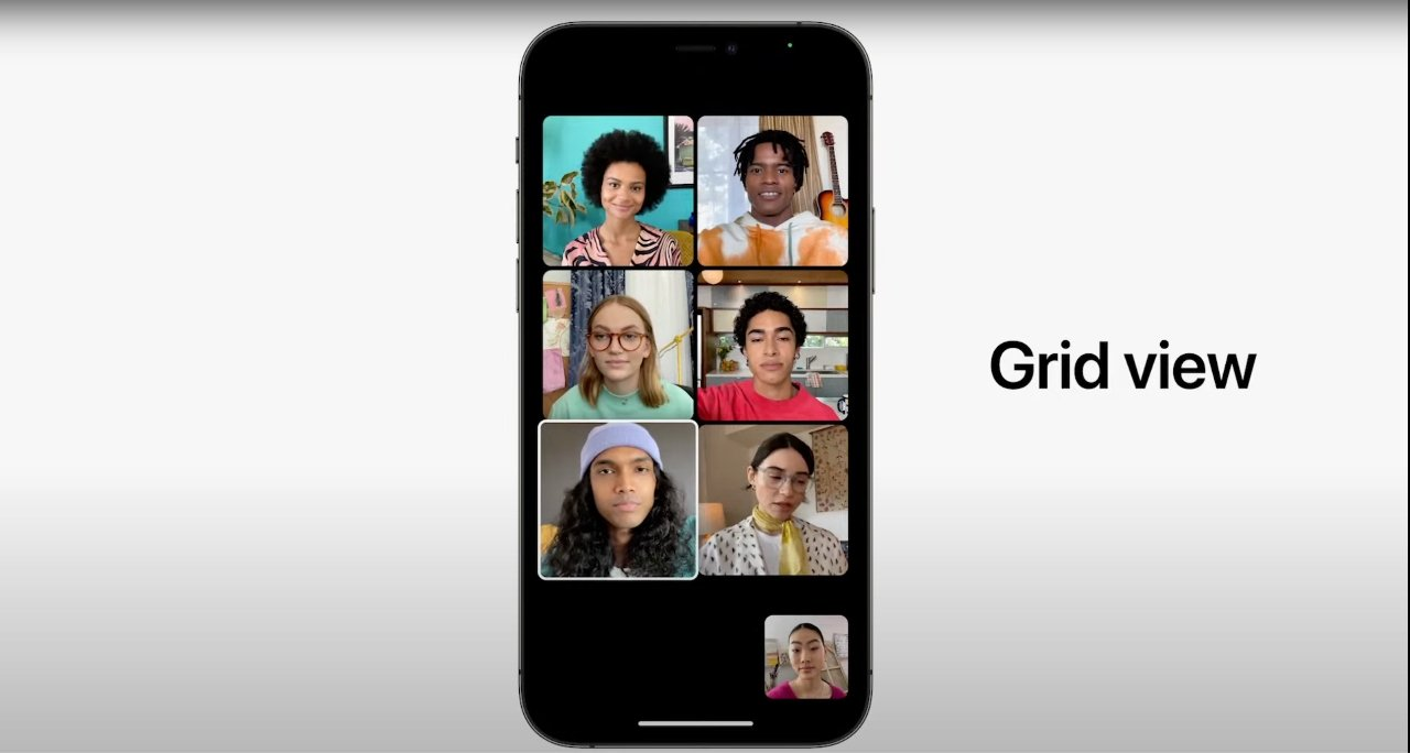 The new grid view in FaceTime resembles Zoom