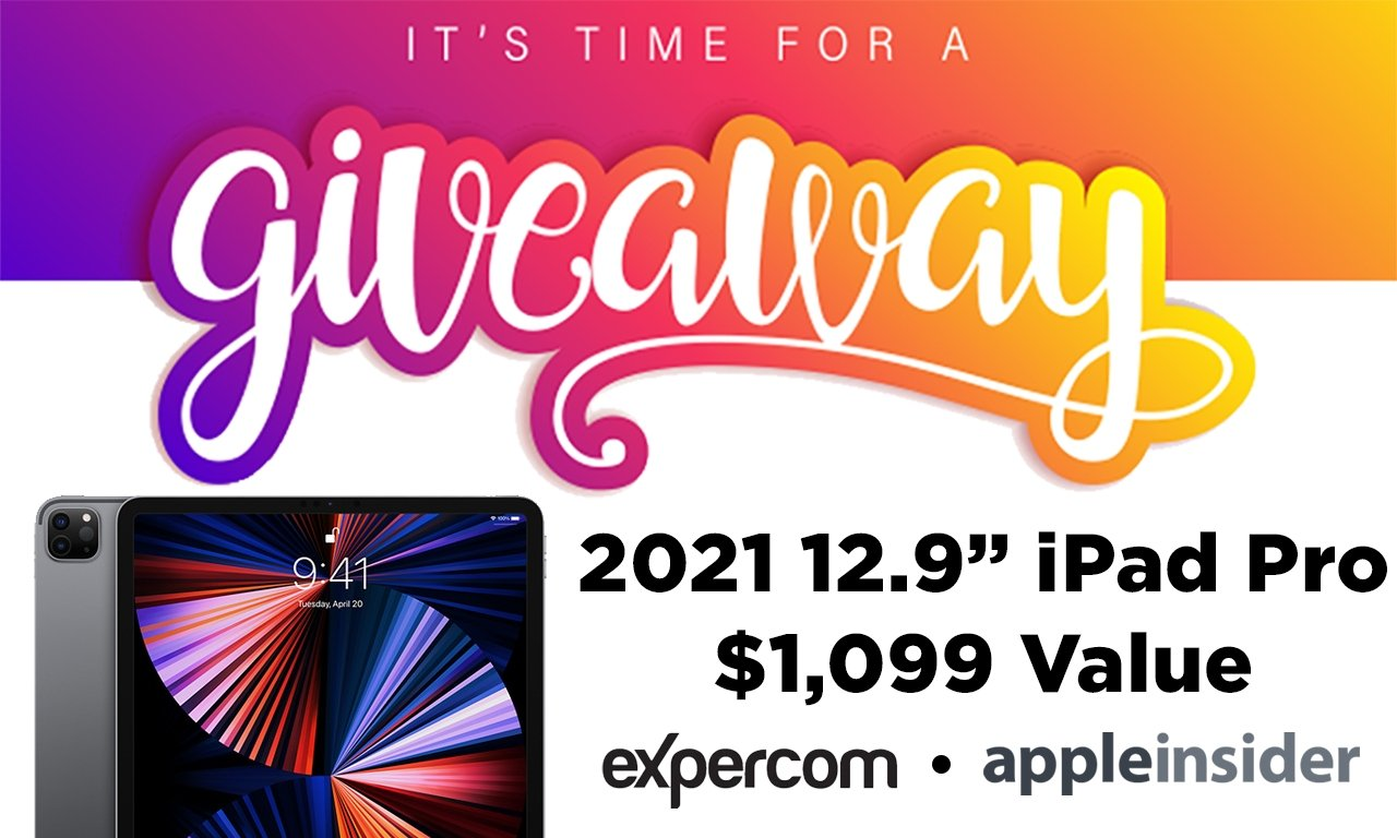Enter to win a 2021 M1 12.9-inch iPad Pro from Expercom