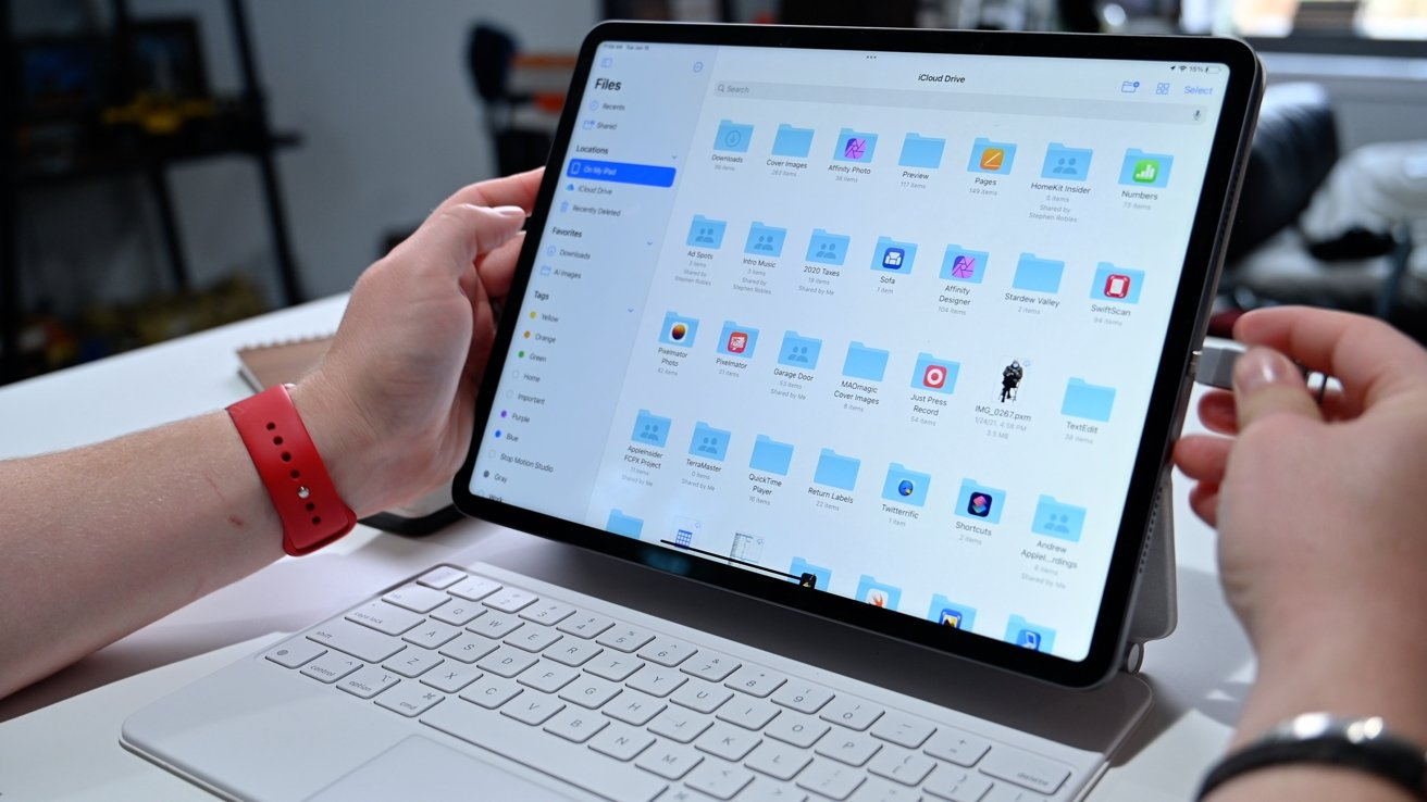 Files app on iPad Pro