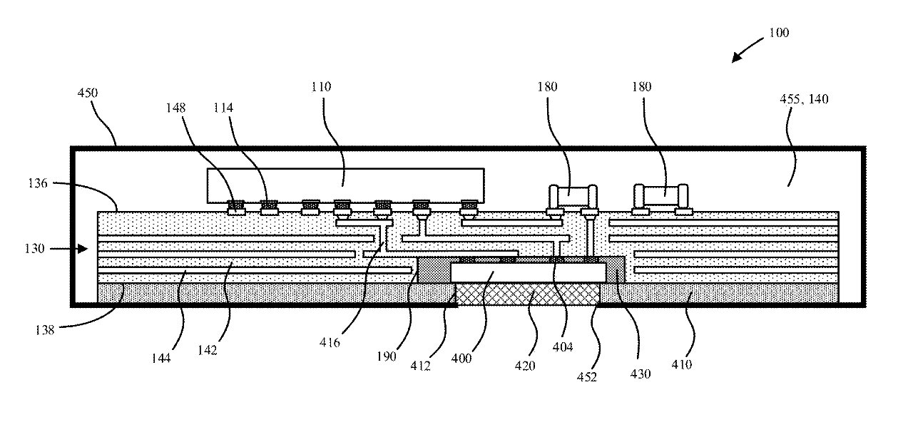 Detail from the patent application showing one configuration of a temperature sensing package