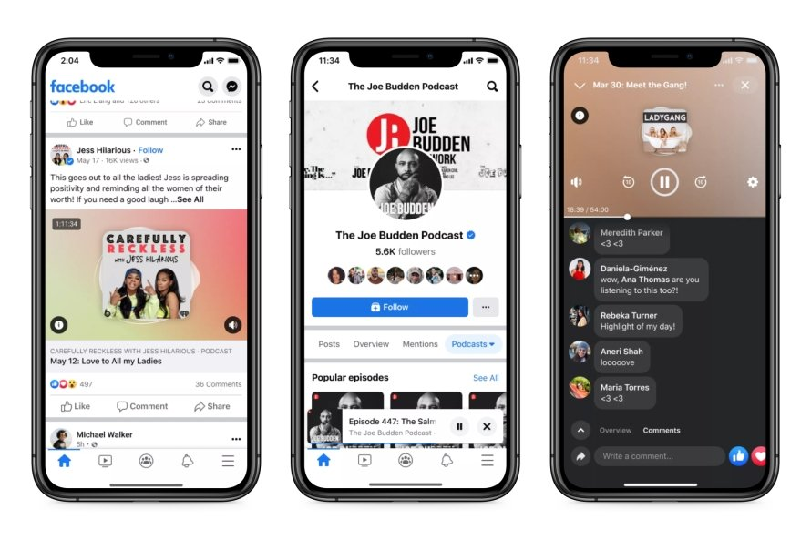 Facebook now has its own roster of podcasts.