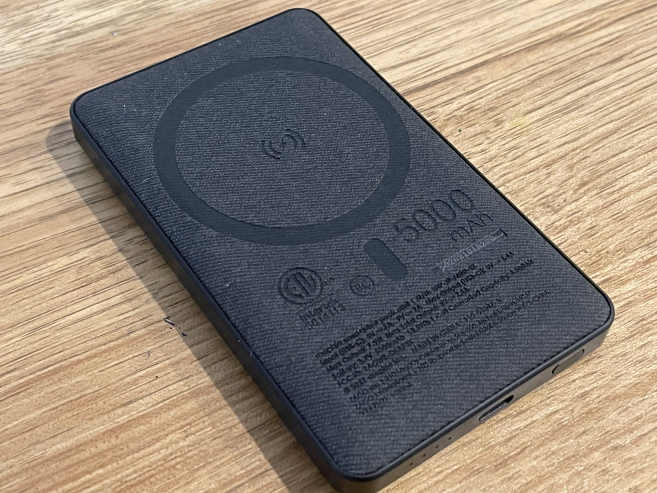 It holds a hefty 5,000mAh of charge for your iPhone, which it can deliver wirelessly.