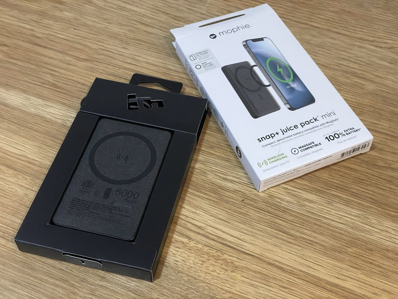 Mophie's packaging is minimal, but does the job.