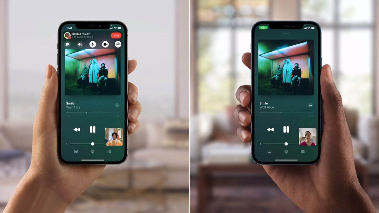 The feature supports sharing Apple Music