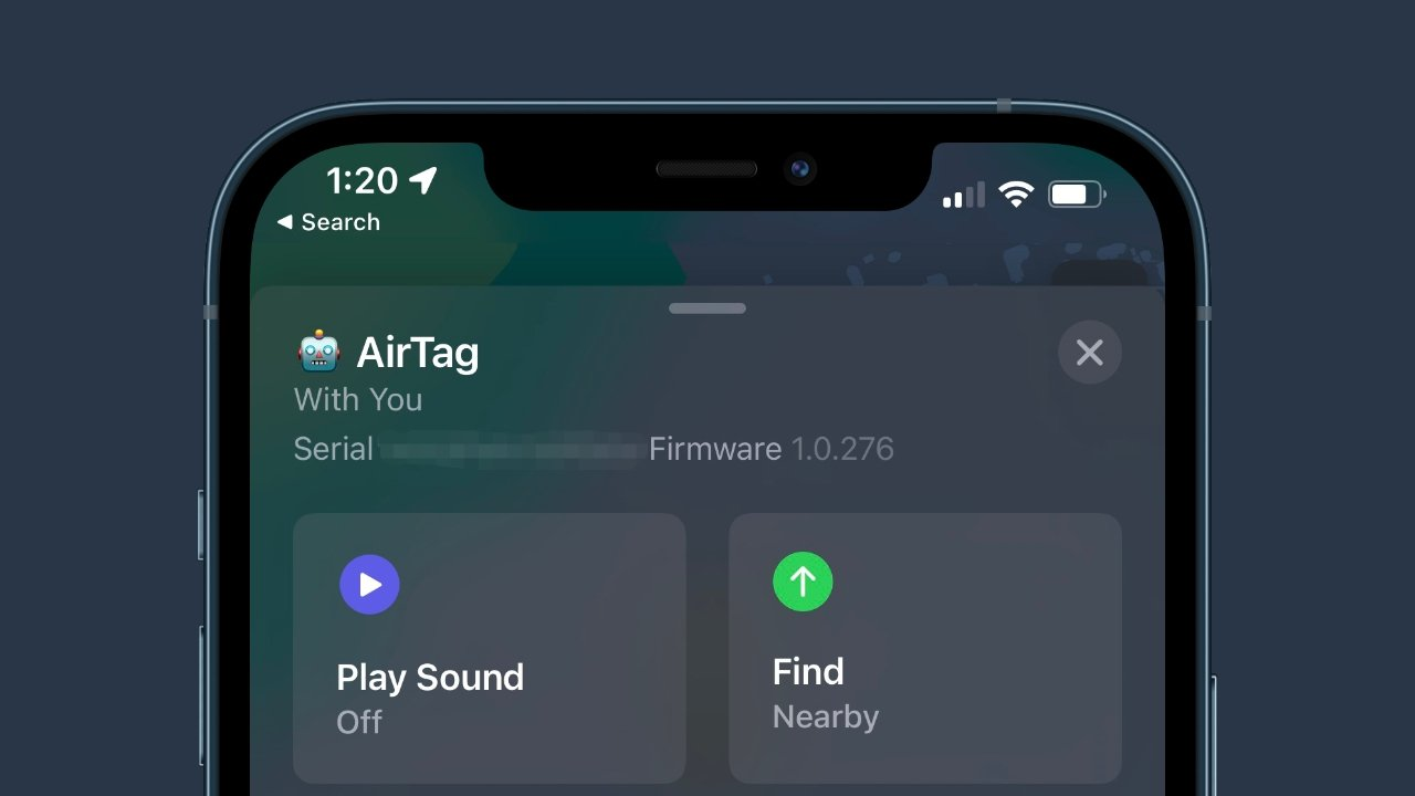 Apple has released a slightly revised AirTag firmware