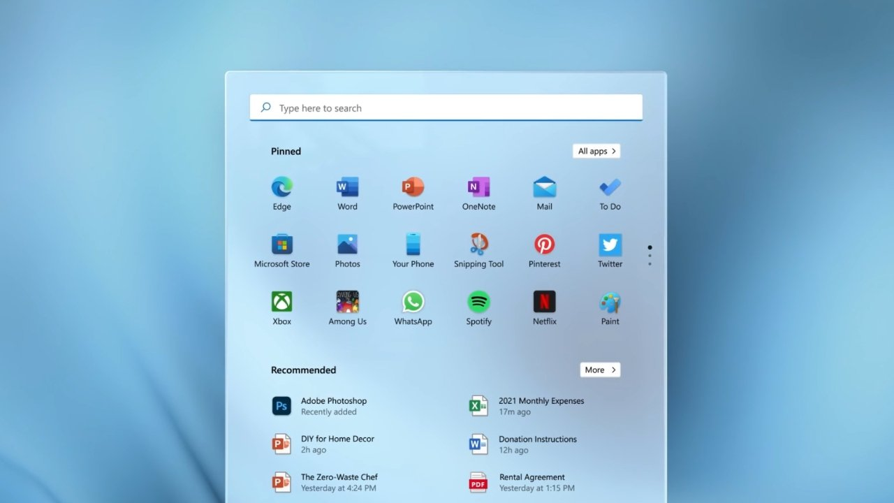 New UI across system apps and search