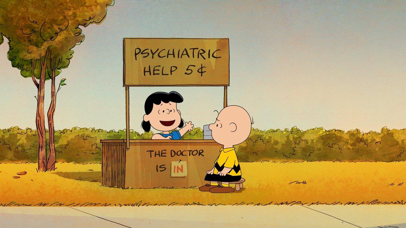 Lucy van Pelt and Charlie Brown in