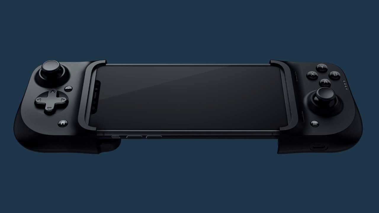 The Razer Kishi grips the iPhone with its attachment system
