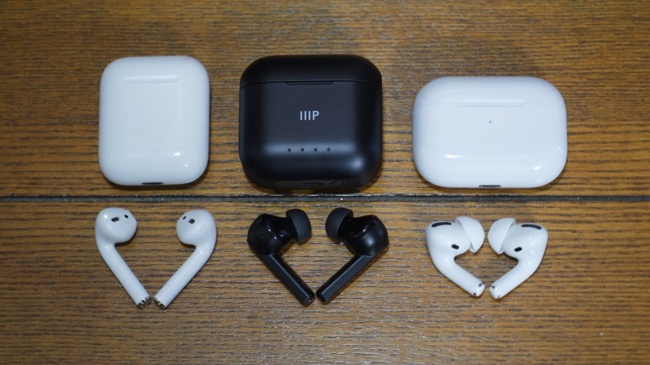 The AirPods, TWE-ANC earphones, and AirPods Pro