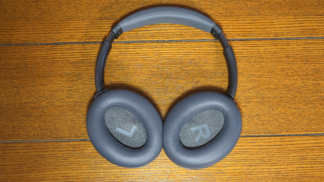 The Monoprice headphones have left/right labels inside the ear cups