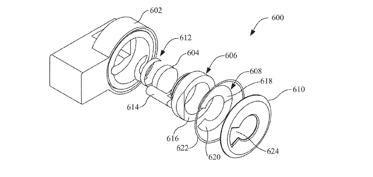 Detail from the patent showing an arrangement of lenses and components