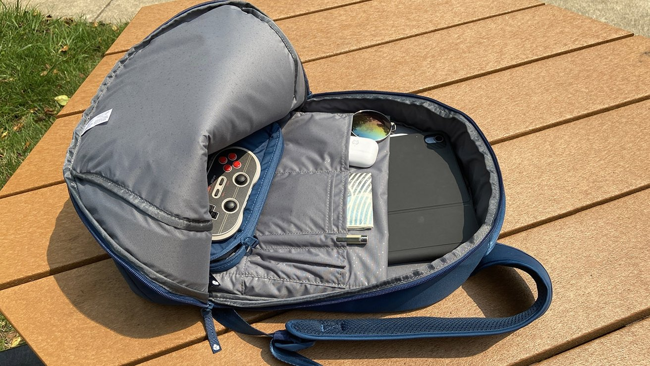 The commuter backpack offers plenty of storage for all the items you use on a daily basis