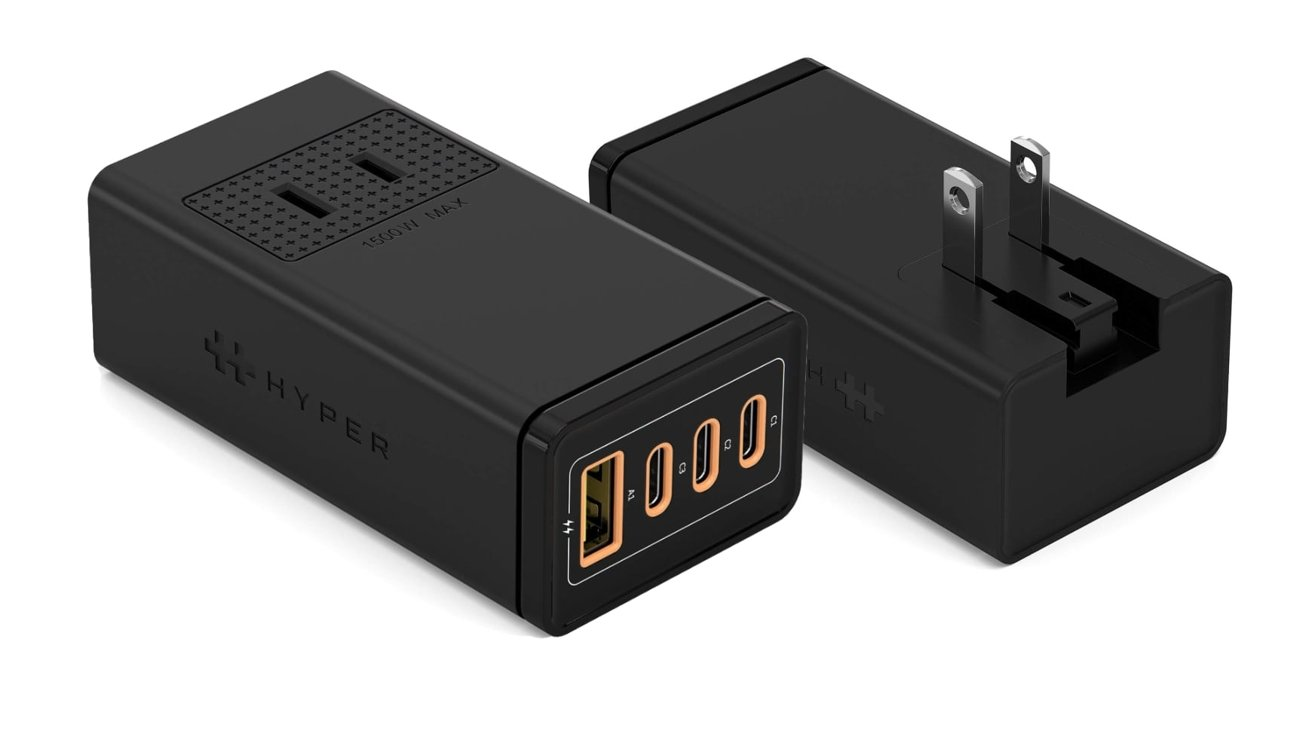 Hyper HyperJuice 100W GaN stackable USB-A and USB-C charger.