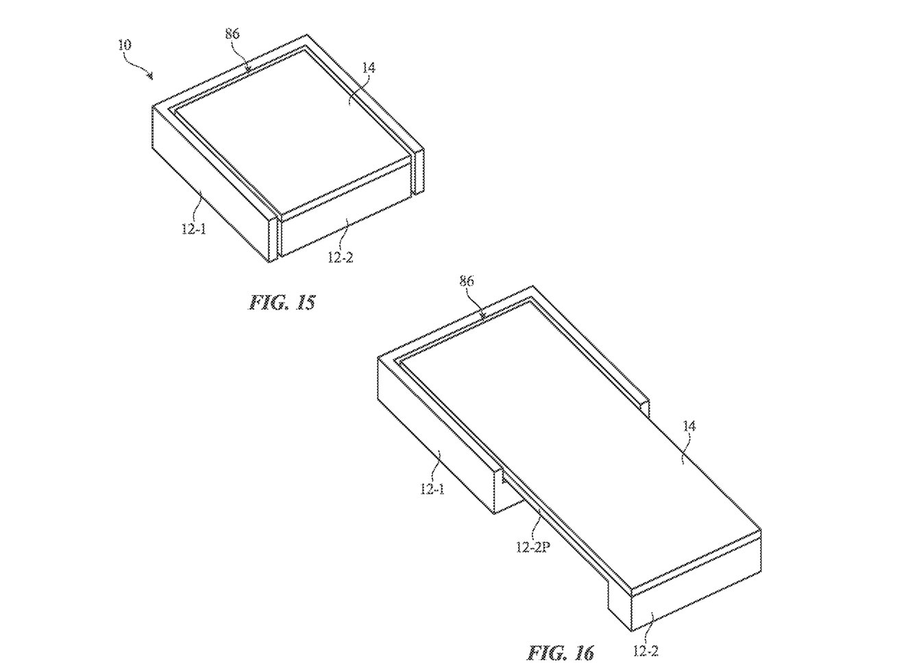 A small-screen device could slide the body down, unfurling a larger display.
