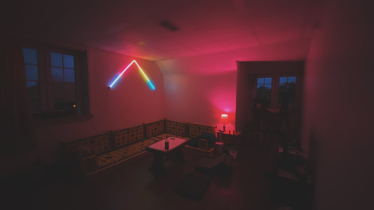 Of course, you can always use the light to convert your living area into a vaporwave-inspired movie den