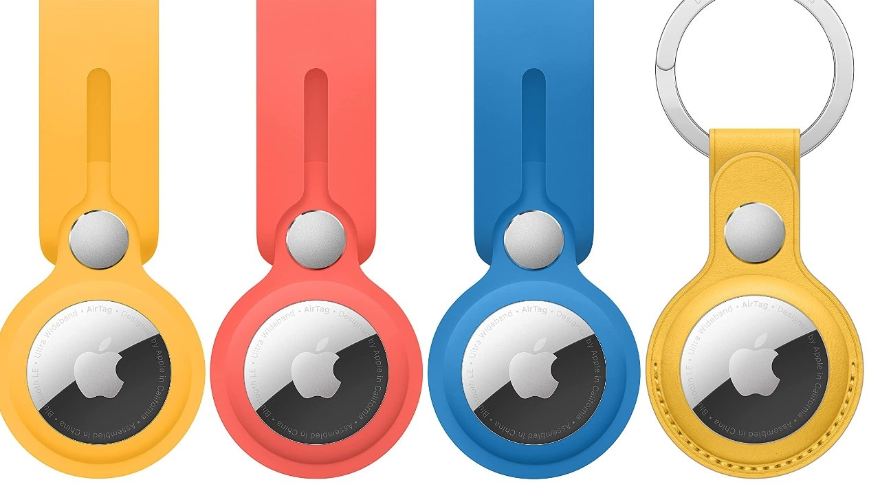 photo of Three new colors of Apple's AirTag accessories spotted on Amazon image