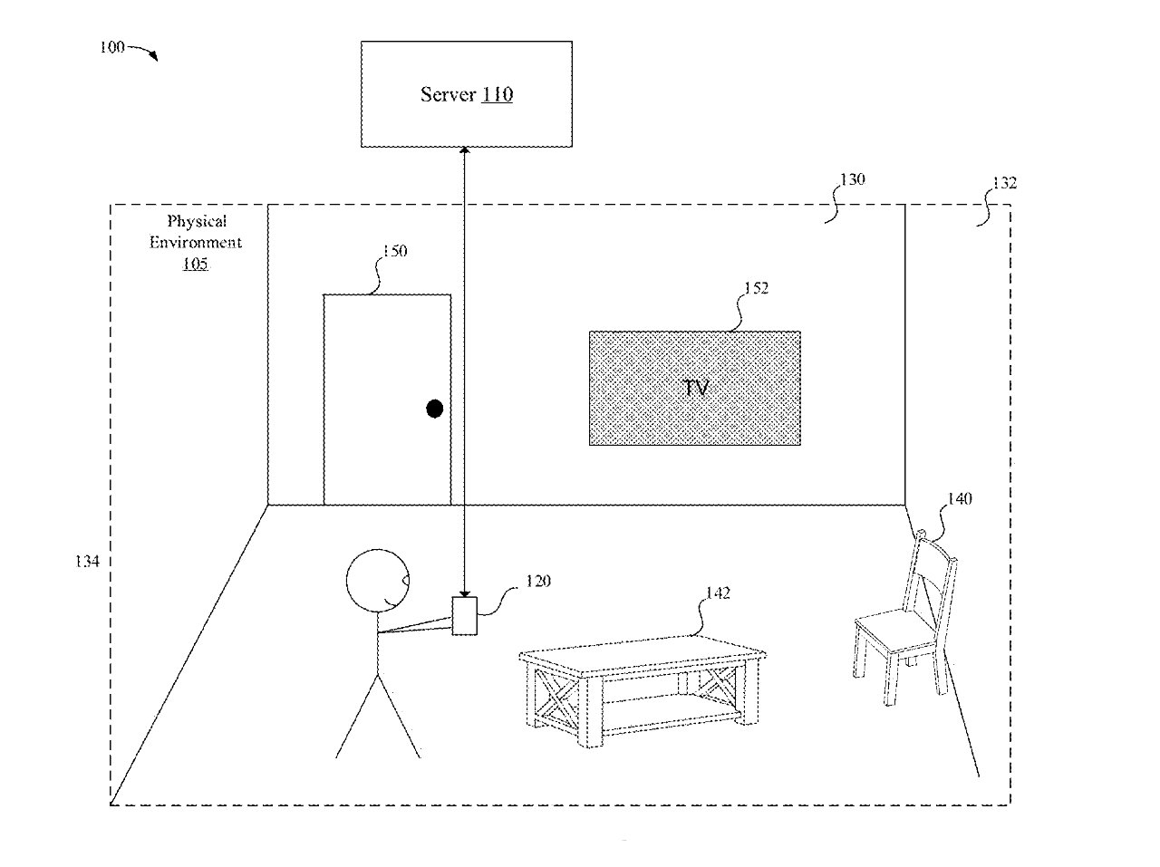 Detail from the patent showing a user measuring different objects
