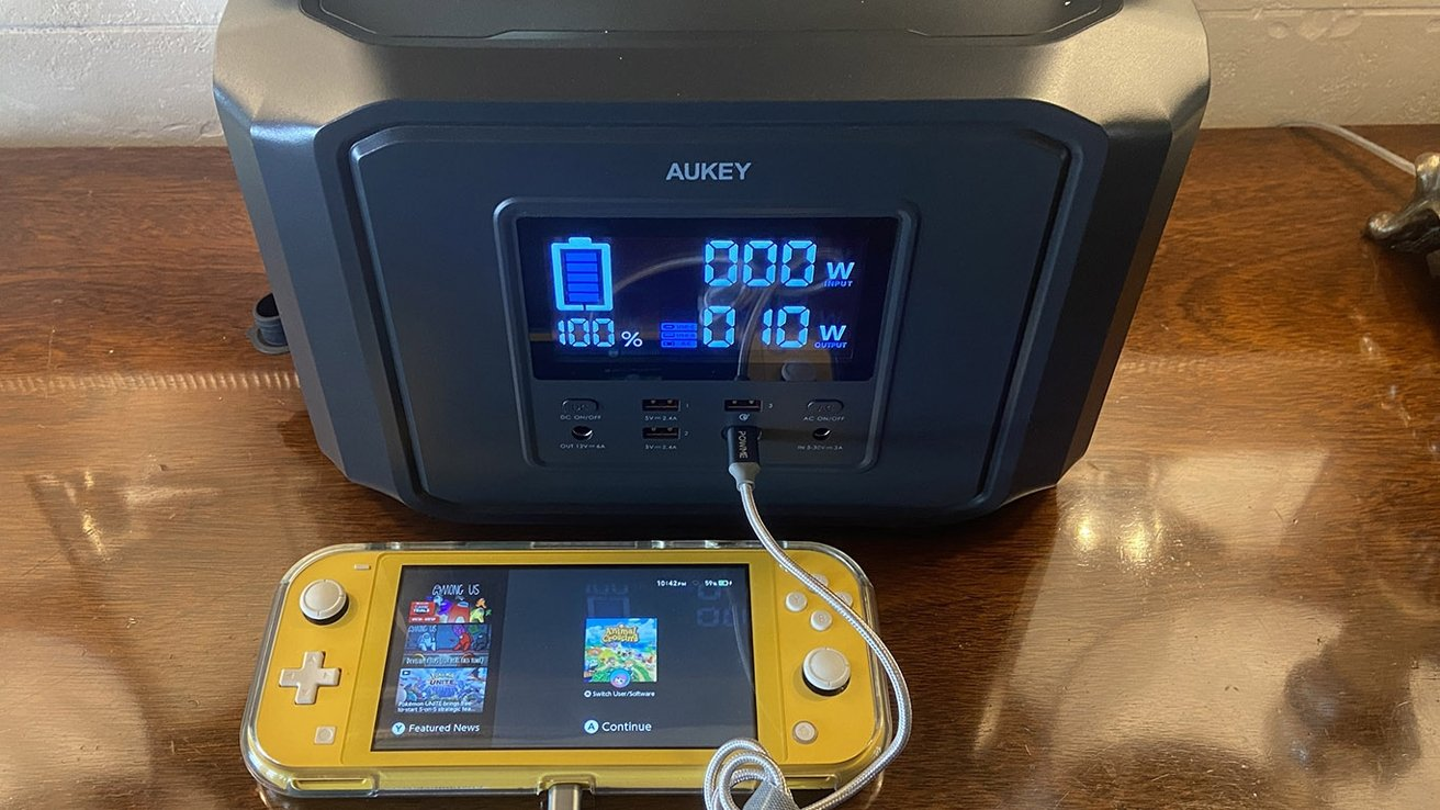 The PowerZeus can charge small electronics and power devices up to 500W