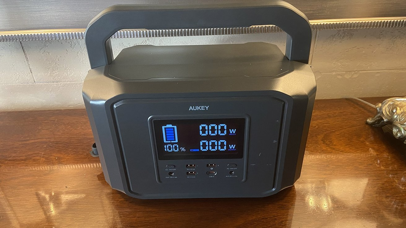 The LCD status display shows you capacity left and your current input and output