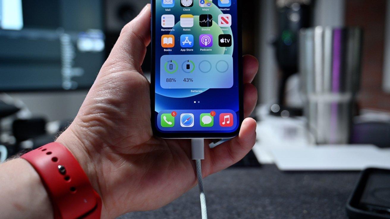 Apple's battery widget