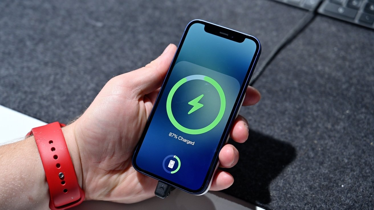 The on-screen animation whenever the battery pack is attached