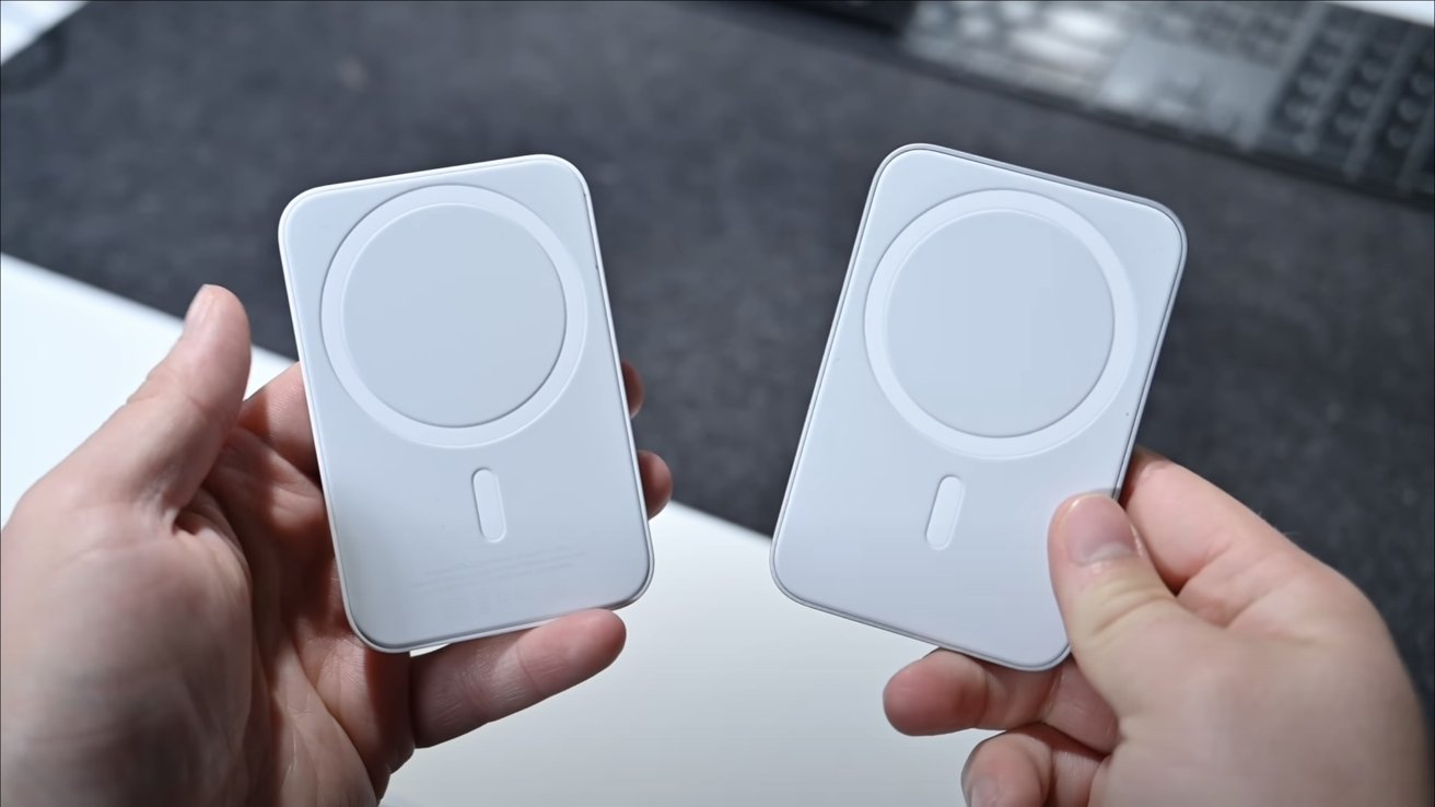 Apple's MagSafe Battery Pack (left) and Belkin's Car Mount Pro (right)