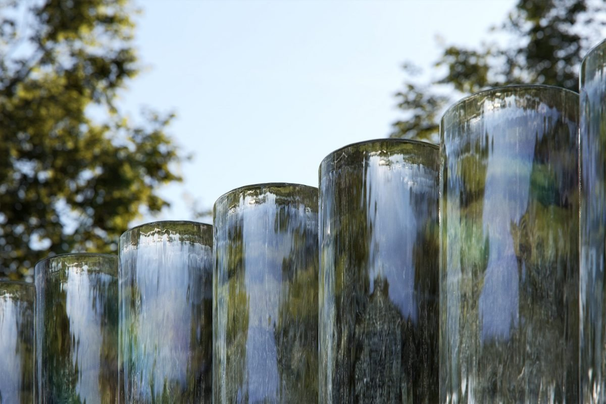 A closer image of the glass cylinders. Credit: Katie Paterson