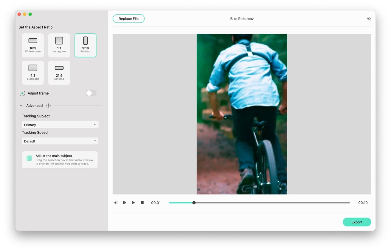 The Auto Reframe tool can help you convert a landscape video into one better suited for TikTok.