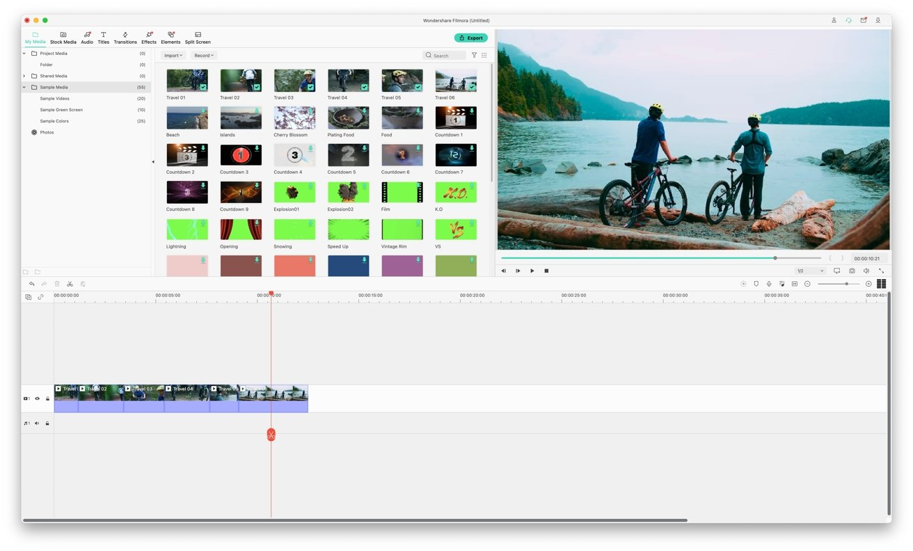 Filmora X enables you to quickly create a video by dragging and dropping clips